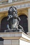 Koenigsberg lejon. Kaliningrad (Koenigsberg till 1946), Ryssland royaltyfri foto
