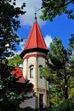 Koenigsberg och i Kaliningrad. Gammalt tyskt hus på den Kutuzov gatan arkivbilder