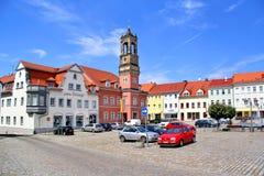 Koenigsbrueck Central Town square Stock Image
