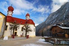 Koenigsee Kirche Lizenzfreies Stockfoto