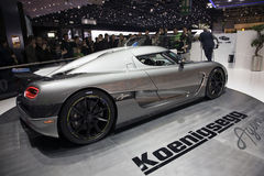 Koenigsegg Agera. Displayed at the 80th edition of the Geneva motor show in Switzerland Stock Photos
