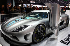 Koenigsegg Agera at the Motor Show 2010, Geneva Stock Photos