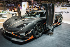 Koenigsegg Agera RS, Motor Show Geneve 2015. Stock Images