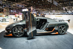 Koenigsegg Agera RS, Motor Show Geneve 2015. Royalty Free Stock Images