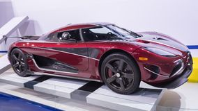 Koenigsegg Agera RS, NAIAS. DETROIT, MI/USA - JANUARY 15, 2018: A Koenigsegg Agera RS car at the North American International Auto Show NAIAS, one of the most Stock Photos