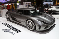 Koenigsegg Agera World Premiere - Geneva 2011. The Agera, the newest hypercar from Swedish manufacturer Koenigsegg, is once again set to wow crowds worldwide Royalty Free Stock Photography