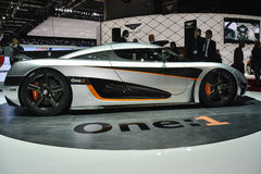 Koenigsegg One:1 at the Geneva Motor Show Royalty Free Stock Image