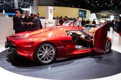 Koenigsegg Resera in Geneva Stock Images