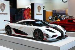 Koenigsegg uno: 1 all'esposizione automatica dell'internazionale di New York jpg Immagine Stock
