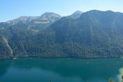 Koenigssee湖和山 库存图片