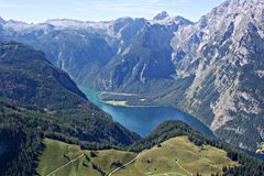 The Koenigssee , Germany royalty free stock image