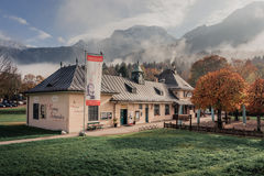Koenigssee, Germany. Exhibition Building Stock Photography