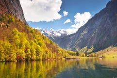 Koenigssee jezioro, Niemcy obrazy royalty free
