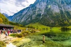Koenigssee, Konigsee, parc national de Berchtesgaden, Bavière, Allemagne image stock