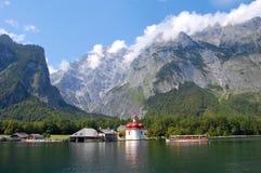 Koenigssee near Berchtesgaden, Germany stock photo