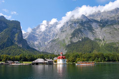 Koenigssee vicino a Berchtesgaden, Germania fotografia stock