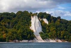 Koenigsstuhl Kredowe falezy na wyspie Ruegen, Niemcy obraz stock