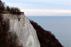 Koenigsstuhl (Stubbenkammer) à la falaise de craie sur Ruegen en Allemagne photographie stock libre de droits