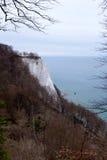 Koenigsstuhl (Stubbenkammer) à la falaise de craie sur Ruegen en Allemagne images libres de droits