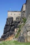 Koenigstein Castle. The majestic fortress of Koenigstein near Dresden, located in Saxon Switzerland, Germany Stock Images