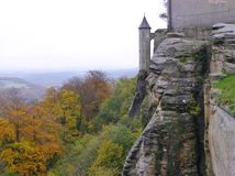 Koenigstein castle in Saxon Royalty Free Stock Photos