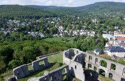 Koenigstein Castle and Taunus Royalty Free Stock Photos