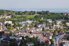Koenigstein and Frankfurt Royalty Free Stock Photography