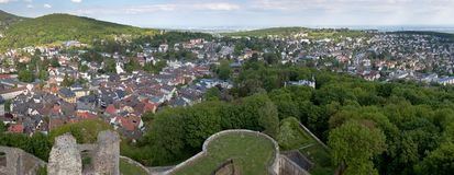 Koenigstein Panorama and Castle Stock Image