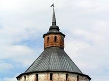 Koepel aan oude steenwatchtower. Royalty-vrije Stock Fotografie