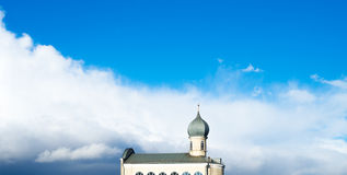 Koepel en dak van de Doopsgezinde kerk Stock Afbeelding