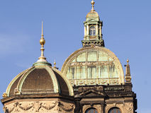 Koepel-nationale museum-Praag-Czechia Royalty-vrije Stock Foto's
