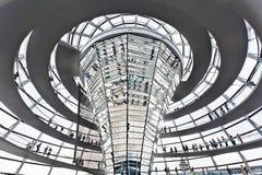Koepel Reichstag Berlijn Duitsland Royalty-vrije Stock Foto's