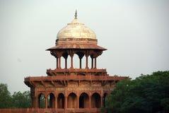 Koepel in Taj Mahal India Royalty-vrije Stock Foto's