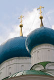 Koepel van Bogoyavlensky Cathedral.Fragment Stock Fotografie