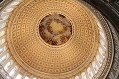 Koepel van de Bouw van het Capitool van Verenigde Staten Stock Afbeeldingen
