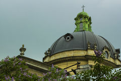 Koepel van de kerk van de Dominicaanse Kathedraal Royalty-vrije Stock Foto's