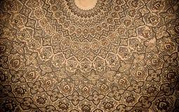 Koepel van de moskee, oosterse ornamenten, Samarkand Stock Afbeeldingen