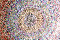 Koepel van de moskee van Nasir al-Mulk, Shiraz stock fotografie