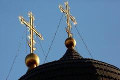Koepel van de Orthodoxe Kerk Stock Afbeeldingen