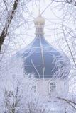 Koepel van de Orthodoxe Kerk Stock Foto's
