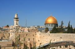 Koepel van de Rots in de Oude stad van Jeruzalem Stock Afbeeldingen
