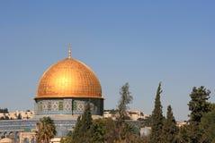 Koepel van de Rots in de Oude stad van Jeruzalem Royalty-vrije Stock Afbeelding