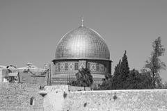Koepel van de Rots in de Oude stad van Jeruzalem Stock Fotografie