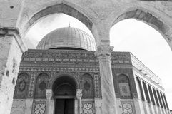 Koepel van de Rots, Jeruzalem Stock Afbeeldingen