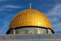 Koepel van de Rots in Jeruzalem stock afbeeldingen