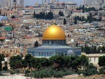 Koepel van de Rots, Jeruzalem stock foto's