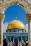 Koepel van de Rots, Jeruzalem, Israël Royalty-vrije Stock Foto's