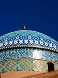 Koepel van een moskee, Yazd stock afbeeldingen