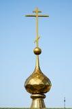 Koepel van een orthodoxe tempel stock afbeelding