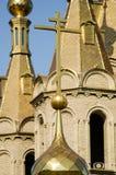 Koepel van een orthodoxe tempel stock fotografie